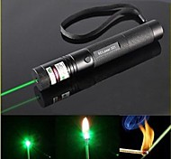 LS319 G301 Focus Burn Visible Beam Pen Laser Green Laser Pointer (5mw, 532nm, 1x18650, Black)