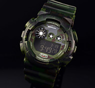 Men's Fashion LED Digital Sports Watch Army Green Military Waterproof Clock