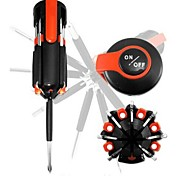 Free Shipping&Tracking 8 in 1 Multi Screwdriver with LED Portable Torch Set#808