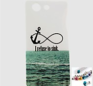 Sea Anchor Pattern TPU Back Cover Case and Dust Plug for Sony Xperia Z3 Mini