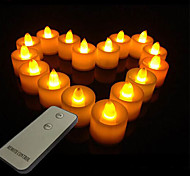 Color-changing Romantic Remote Controlled Light Paraffinic LED Electronic Candle(1 Light&1 Remote Control)
