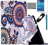 Coco Fun® durmiendo modelo del búho caja de cuero de la PU con el cine y cable usb y el lápiz para samsung galaxy tab 3 8.0 T310 / T311