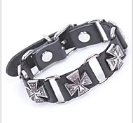 Tina -- Bohemian Vintage Fashion Alloy Accessory Leather Bracelet in Party