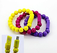 Bracelet Type Charger Cable For Samsung Mobile Phone (Assorted Color)