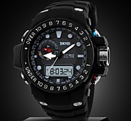 Relógio Esportivo ( LCD/Calendário/Cronógrafo/Resistente à Água/Dois Fusos Horários/alarme ) - Analógico-Digital - Quartz