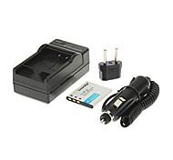 Ismartdigi-Cas CNP-110(1200mAh,3.7V)Camera Battery+EU Plug+Car Charger For CASIO EX-Z2000 Z2200 Z2300 Z3000