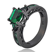 Size 6/7/8/9/10 High Quality Women Emerald Sapphire Rings 10KT Black Gold Filled Ring