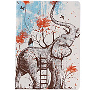 Lovely Elephant Pattern PU Leather Full Body Case  for iPad Air