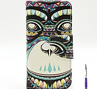 The Gorilla Pattern PU Leather Case Cover with A Touch Pen ,Stand and Card Holder for iPhone 5C