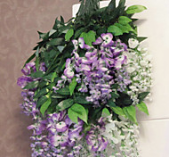 "27.6""L High-quality Simulation Purple Wisteria Flowers for Decoration"