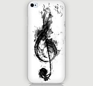 Musical Notes Pattern Back Case for iPhone5/5S