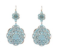 Fashion Painted Flower Drop Earrings