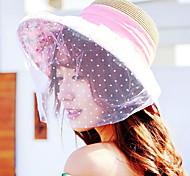 UV Sunscreen Bow Visor Floppy Hat