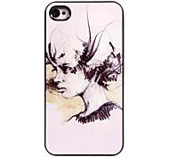 caso duro olio donne pittura in alluminio modello per iPhone 5 / 5s
