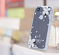 iPhone 5/5S iPhone - Per retro - per Diamantini in rilievo/Transparente/Ultra sottile ( Argento , Policarbonato )