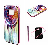 2-in-1 Oil Painting Dreamcatcher Pattern TPU Back Cover with PC Bumper Shockproof Soft Case for Samsung Galaxy S6