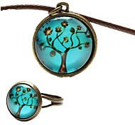 Fashion Peace Tree Shape(Includes Necklace&Ring)Jewelry Set