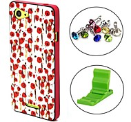 Girl Series Clourful Beautiful Flower Pattern Case Cover with Dust Plug and Stand for Sony Xperia E3