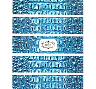 1PC New 3D Trendy Nail Art Stickers Nail Wraps Nail Decals Crocodile Pattern Nail Polish Decorations