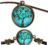 Fashion Peace Tree Shape(Includes Necklace&Bracelet)Jewelry Set