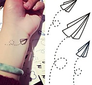 Paper Airplanes Paper Plane Tattoo Stickers Temporary Tattoos(1 pc)
