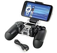 smart phone supporto del supporto di memorizzazione staffa + cavo di ricarica per il regolatore PS4 gamepad