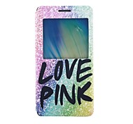 Love Pink Pattern PU Leather Case with Stand for Samsung Galaxy A5