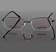 [Free Lenses] Metal Rectangle Half-Rim Classic Prescription Eyeglasses