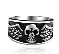 High Quality Punk Biker Jewelry For Men Batman Skull Rings 316L Stainless Steel Jewelry Gift US Size 7 8 9