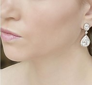 Vitage Wedding Party Birde CZ Crystal Earring