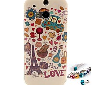Animation Pattern TPU Back Cover Case and Dust Plug for HTC One(M8)