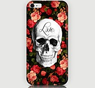 Roses Skulls Pattern Back Case for iPhone 6