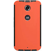 New Simple Solid Two in One Multi-Materials Plastic and Silicon and Touch Function Case for Motorola Nexus 6