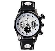Men's Fashion Unique Digital Big Round Dial Silicone Strap Quartz Movement Wrist Watches (Assorted Colors)