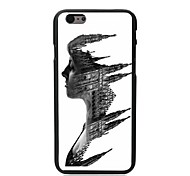 Castle in the Face Design Hard Case for iPhone 6 Plus