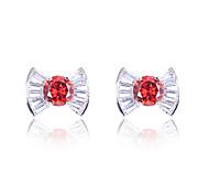 High Quality Fashion Women Zircon Platinum Earrings