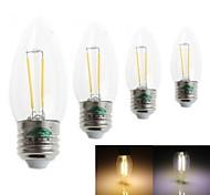 Zweihnder Lâmpada Vela Decorativa E26/E27 2 W 180 LM 3000-3500 / 6000-6500 K Branco Quente/Branco Frio 2 LED Integrado 4 pçs AC 220-240 V