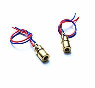 10050109w 5V rote Laserdioden für Spielzeug / Instrumente - golden + rot + blau (2 Stück)