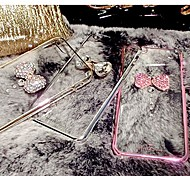 LADY   The Crystal Shell Plating  with Diamond Frame for iPhone 6