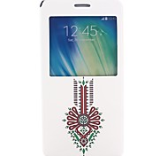 Fashion Design Pattern PU Leater Open Window Stand Full Body Case for Samsung Galaxy A7