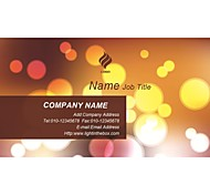 Business Cards 200pcs Circle Lighting Pattern 2 Sided Printing of Fine Art Filmed Paper