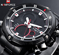 Men's Military Sport Watch Japanese Quartz Analog-Digital LED/Calendar/Chronograph/Water Resistant/Dual Time Zones/Alarm Cool Watch Unique Watch