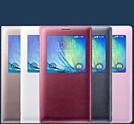 Para Funda Samsung Galaxy con Ventana / Flip Funda Cuerpo Entero Funda Un Color Cuero Sintético Samsung A5