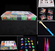 BaoGuang®Fashion Loom Set (2100pcs Rubber Bands,4 Package Clips,1 Looms ,4 Hook)