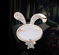 Lovely High Quality Rabbit Rhinestone Brooch