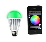 Lâmpada de LED Smart Ativada Por Som/Controle Remoto/Bluetooth E26/E27 3 W LM K Vermelho/Azul/Verde/Roxa SMD 1 pç AC 100-240 VEncaixe