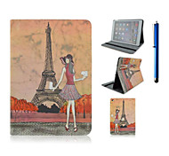 9.7 Inch Beauty Pattern with Stand Case and Pen for iPad Air 2/iPad 6