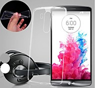 BIG D Utral Thin TPU Transparent Soft Case for LG G3(Assorted Color)