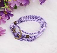 Vintage Anchor PU Handmade Bracelet