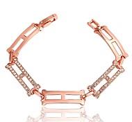 Bracelet Chaînes & Bracelets Cuivre / Strass / Plaqué Or Rose Mariage / Soirée / Quotidien Bijoux Cadeau Or Rose,1pc